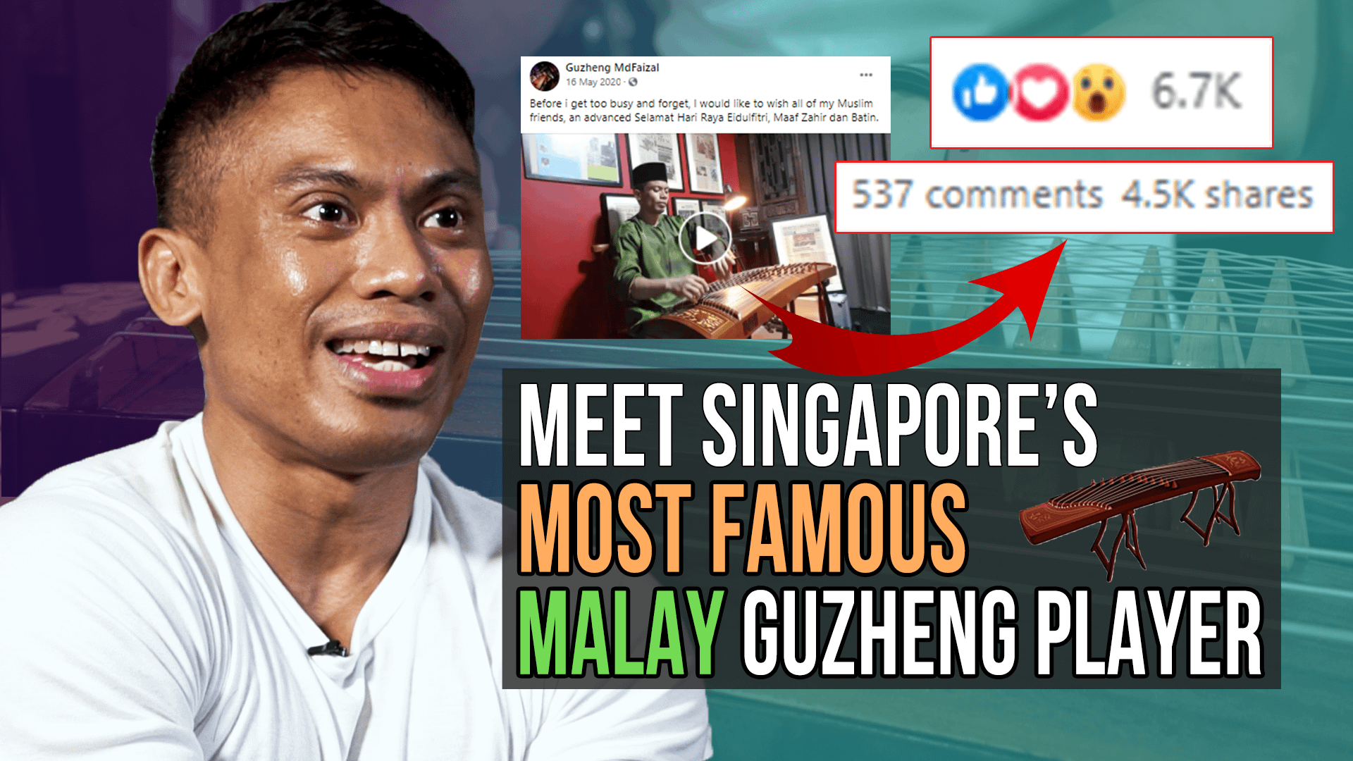 Meet Singapore's most famous Malay Guzheng player!